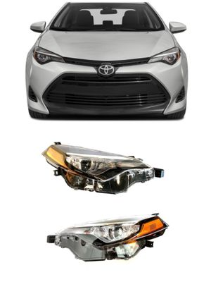 FOR 2017 2018 2019 ToyotaCorolla Projector Headlights Headlamps Compatible w/ CE L LE LE ECO Models Only for Sale in Chino, CA