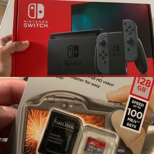 160 GB Gray Nintendo Switch Bundle for Sale in Anaheim, CA