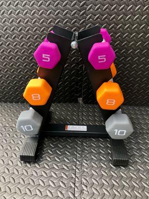 Dumbbells- weight lifting - 3 sets neoprene dumbbells for Sale in Orlando, FL