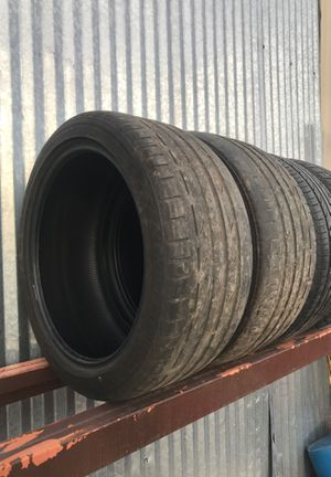 Two Used 245-40-18 Bridgestone Potenza tires set for Sale in San Marcos, TX