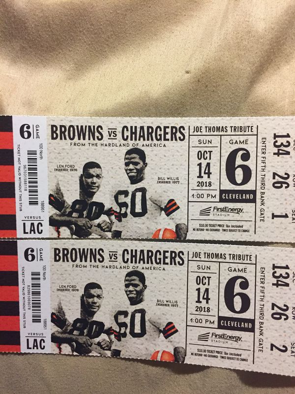 Browns vs Chargers tickets October 14