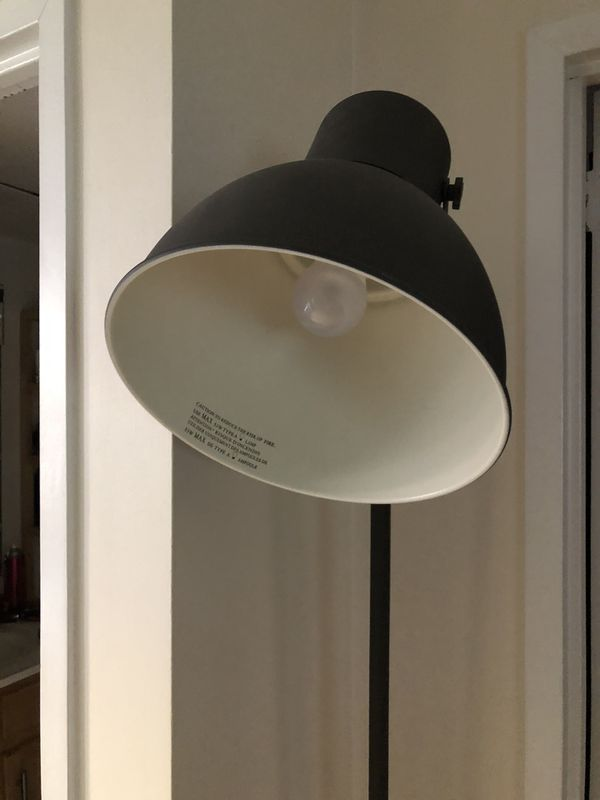 IKEA HEKTAR Floor lamp in dark gray