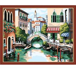 "Framed Paint by Numbers for Adults & Kids,Canvas Oil Painting Kits with Brushes and Acrylic Pigment,20"" W x 16"" L for Sale in Arcadia,  CA"