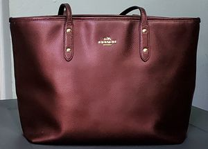 Coach burgandy tote for Sale in Hayward, CA