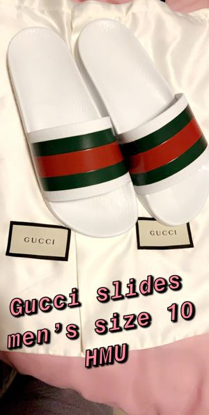 Men's Gucci slides size 10 for Sale in Waterbury, CT