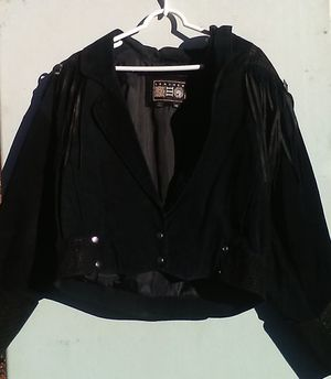 Women's Fringed black suede jacket for Sale in Winston-Salem, NC