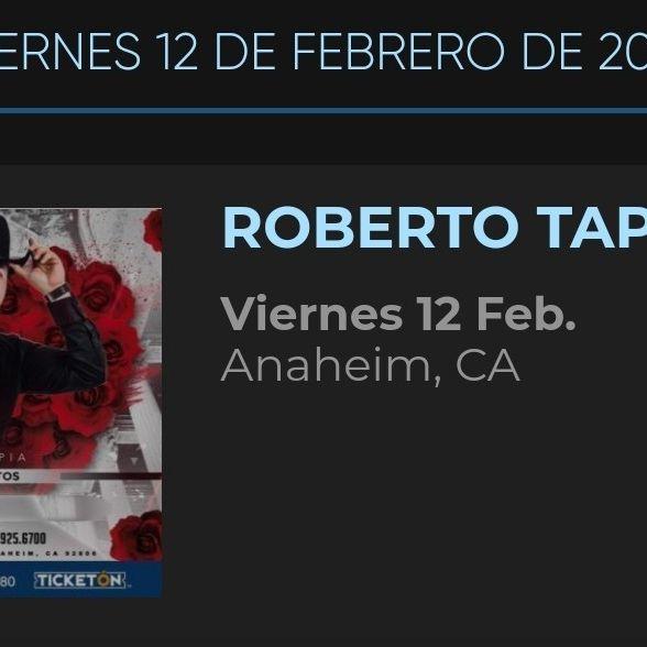 ROBERTO TAPIA CONCERT 2/12/21- XALOS