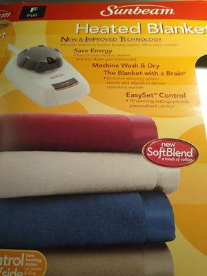 Sunbeam Electric Blanket Full N31-G2-5 Style J85D for Sale in TEMPLE TERR, FL