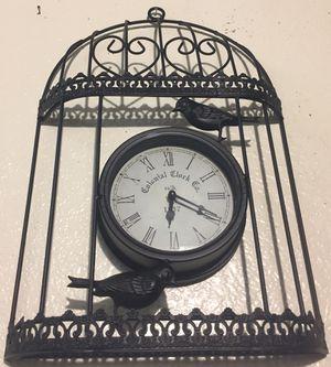 Beautiful metal art wall clock H18xW11.5xD2 inch for Sale in Chandler, AZ