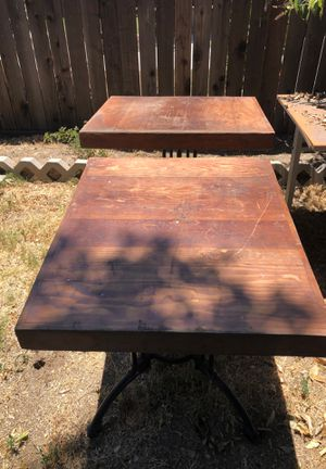 Wooden Restaurant tables with nice iron legs for Sale in Los Angeles, CA