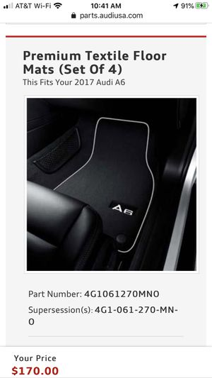 Audi A6 Premium Textile Floor Mats (Set Of 4) for Sale in Cypress, TX
