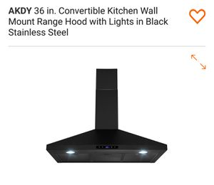 """36"""" Wall Mount Black in Black Stainless for Sale in Fontana, CA"""