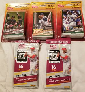 NEW SEALED 2020 Topps Series 2 baseball and 2020 Optic baseball bundle- 3 (Topps 3-packs/ 2 Optic Cell packs) for Sale in Cave Creek, AZ