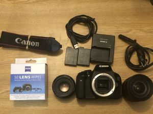 Canon EOS Rebel T3i Digital SLR Camera Black AF 17-50mm F/2.8 /EF 50mm Lens /two battery and charger... for Sale in Rochester, NY