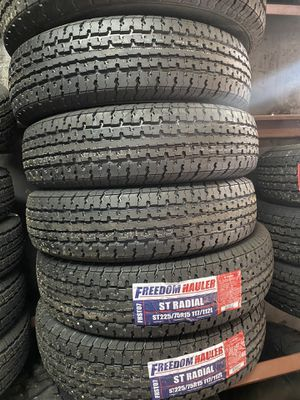 St225/75/15 TRAILER TIRES 10ply 80psi for Sale in Arlington, TX