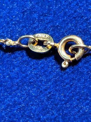 14 k bracelet with flower pendant/ charm for Sale in Glendale, AZ