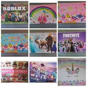 Backdrops baby shark, fortnite, frozen, roblox, unicorn, JoJo Siwa, Masha and the Bear, LOL dolls, Toy story party , moana, pocoyo, peppa pig for Sale in Bellflower, CA