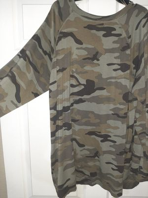 Camo long shirt very soft and great w/leggings for Sale in Scottsdale, AZ