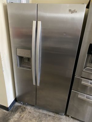 WHIRLPOOL STAINLESS STEEL SIDE BY SIDE for Sale in Santa Ana, CA