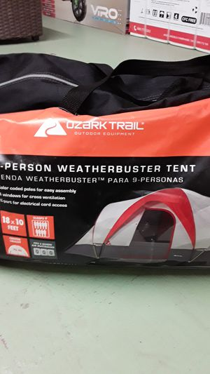 Ozark trail 9 person weather buster tent for Sale in Port Richey, FL