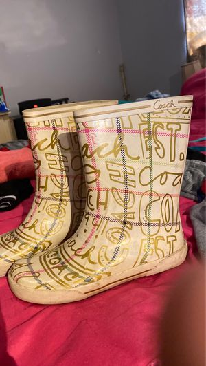 7/8 coach rain boots like new for Sale in Columbus, OH