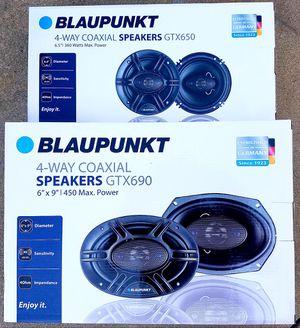 4 x Blaupunkt 6.5+6x9 810W car speakers for Sale in Chino Hills, CA