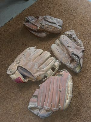 Old baseball gloves (4) for Sale in Indianapolis, IN