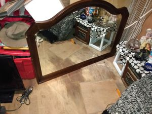 Huge cherry wood mirror for Sale in Pensacola, FL