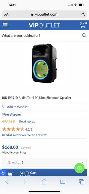 ion iPa91D audio total pa ultra Bluetooth speaker for Sale in Honolulu, HI