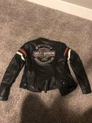 Women's Harley Davidson Motorcycle Jacket size small for Sale in Puyallup, WA
