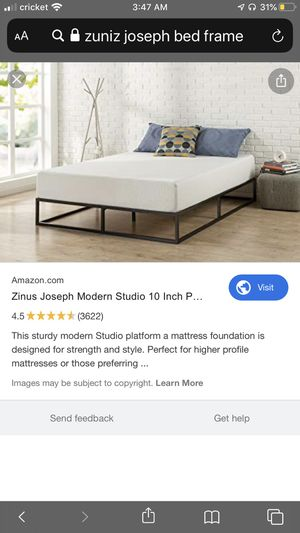 Zuniz Joseph modern queen bed frame for Sale in Shepherdsville, KY