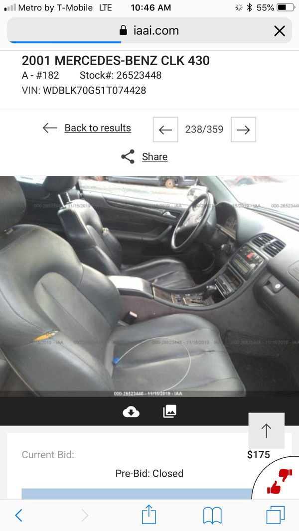 2001 Mercedes clk