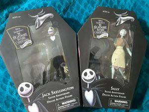 Jack Skeleton and Sally action figures Collectibles 25th anniversary for Sale in Adelanto, CA