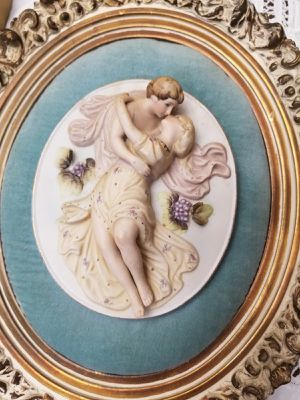 Antique bisque porcelain pair of wall plates for Sale in Cape Coral, FL