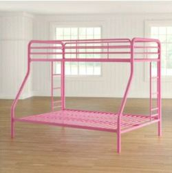 Girls Pink Metal Bunk Bed for Sale in St. Louis,  MO