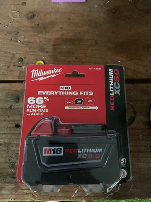 Milwaukee xc 5.0 battery for Sale in Riverside, CA