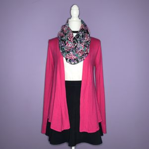 Hot Pink Draped Cardigan for Sale in Clawson, MI