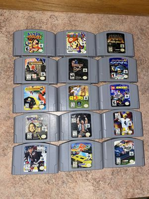 Nintendo 64 game lot for Sale in Canton, OH