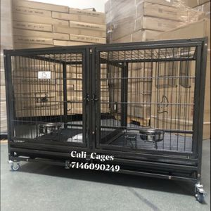 Dog Pet Cage Kennel Size 43 Upper Folding New In Box 📦 And for Sale in Chino, CA