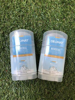 2 Pack Natural Mineral Salt Deodorant Sticks for Sale in Los Angeles, CA