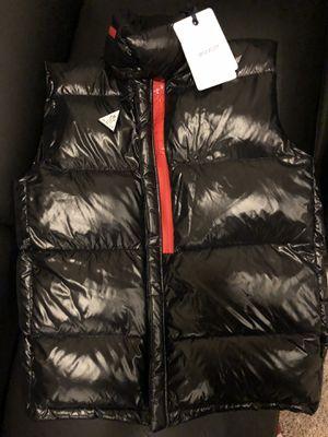 Moncler bubble vest black size large for Sale in Washington, DC