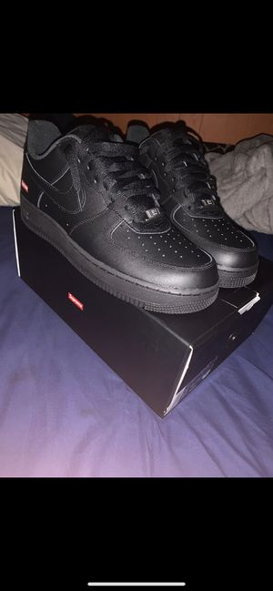 Air Force 1 Supreme Black for Sale in Los Angeles, CA