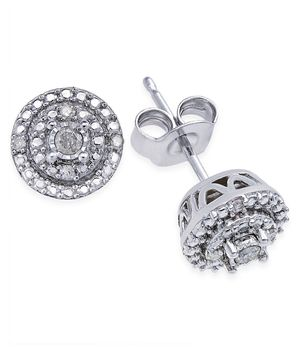 Diamond Stud Earrings in Sterling Silver for Sale in Imperial Beach, CA