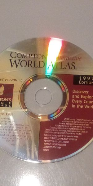 Compton's Interactive World Atlas 1997 CD-ROM for Windows for Sale in Steubenville, OH