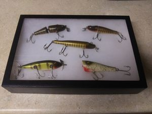 1950s glass eye fishing lures 5 of them in case for Sale in Lake Stevens, WA