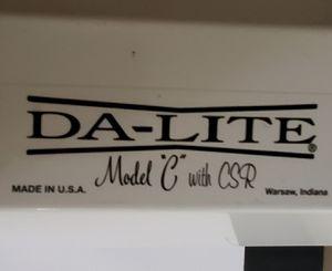Da-Lite Model C with CSR Projection Screen 100' Manual for Sale in Pompano Beach, FL