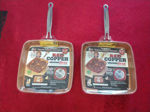 2x As Seen On TV Red Copper Square Pan for Sale in Philadelphia, PA