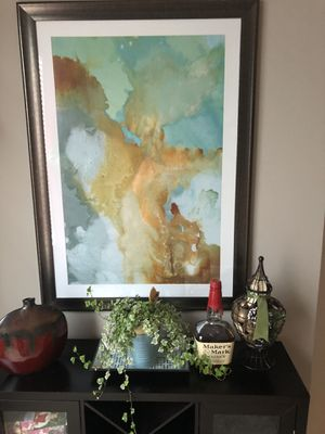 Watercolor painting with glass frame for Sale in Raleigh, NC