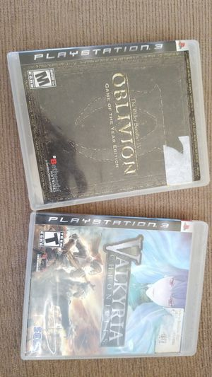 PS3 - OBLIVION ELDERS SCROLLS IV AND VALKYRIA CHRONICLES LIKE NEW for Sale in Lakeland, FL