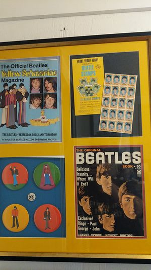 Awesome Beautiful The Beatles Vintage Professional Framed Memoralabilia Make Offer Rare Piece for Sale in Seven Hills, OH